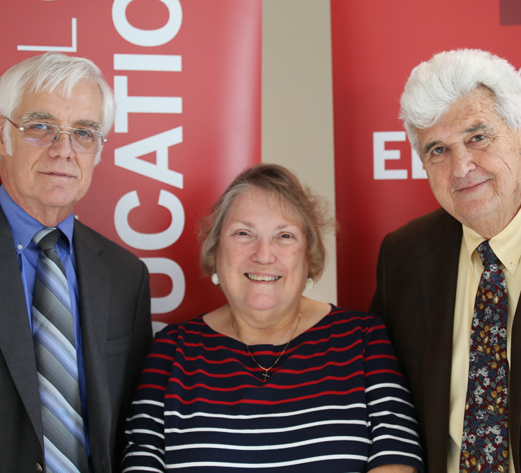 Tom Huberty, Barb Frye, and Michael Tracy