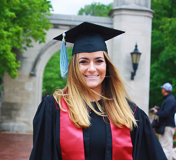 recent graduate feature kelsey hess news school of education