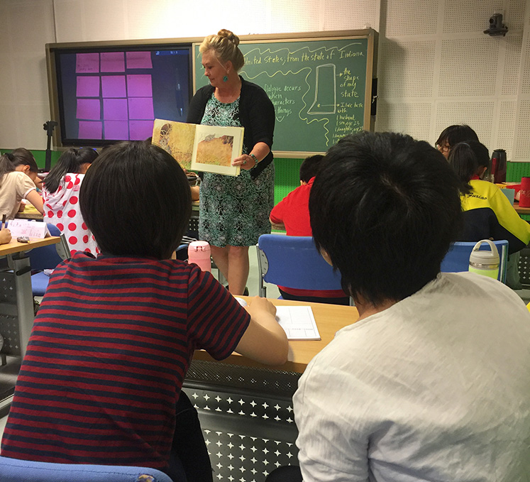 Melissa Brundick McNabb teaching English through picture books