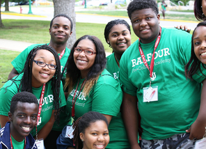 Balfour Scholars on campus during the 2014 Pre-College Academy.
