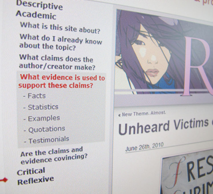 A screenshot of the Critical Web Reader.