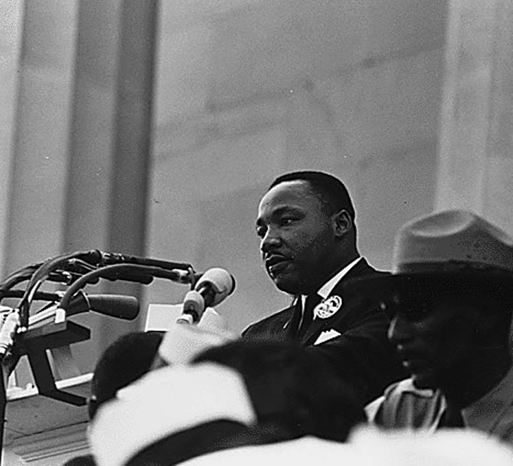 Dr. Martin Luther King, Jr. speaks on Aug. 28, 1963 (from the U.S. National Archive)