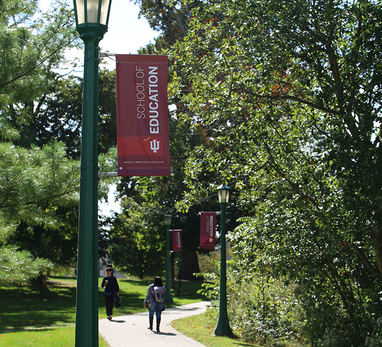 IU School of Education outdoor banners